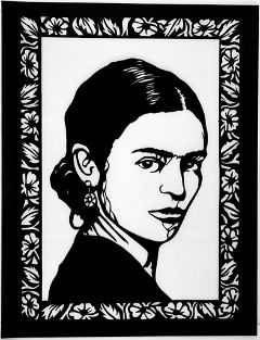 """Frida Kahlo Portrait"" by Linda Garcia using Papel Picado"