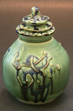 """Crown Jewel"" – Porcelain vessel. Juried into the 45th Annual National All Media Show 2013."