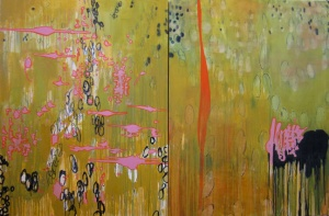 "Surface 48"" x 72"" Oil on Canvas, 2011"