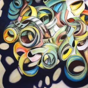 Burble - 2012 - pastel - 42x40