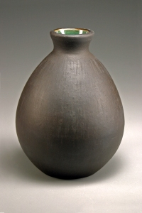 "Sake Bottle. 2012. 5""x5"". ceramic"