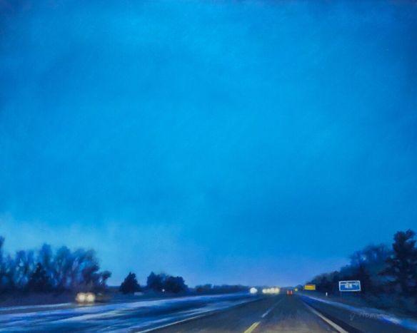Cobalt Skies, 16x20 pastel, 2014