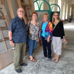 Prairie Arts Center, North Platte. (Left to Right) Bob Culver, Suzanne Wise, Wava Best, and Marian Fey